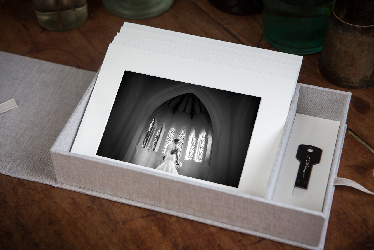 Wedding USB Print box at ER Photography