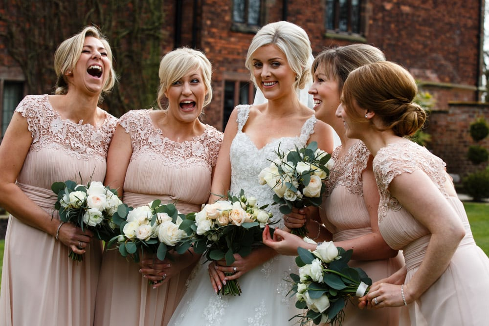 Bridesmaids at Colshaw Hall