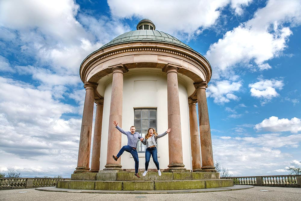 Fun engagement photoshoot heaton park
