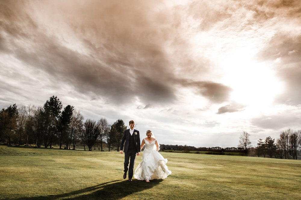 Sunset over the golf course at The Garstang Hotel