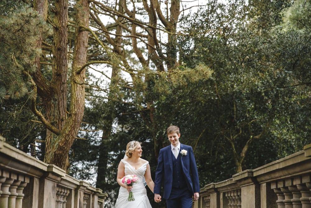 Bride and Groom at Ashton Memorial