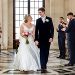 Walking down the aisle at Ashton Memorial
