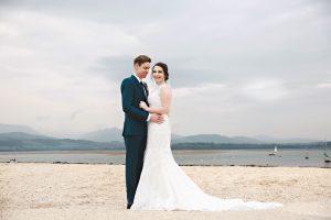Bride and Groom at Beaumaris Beach