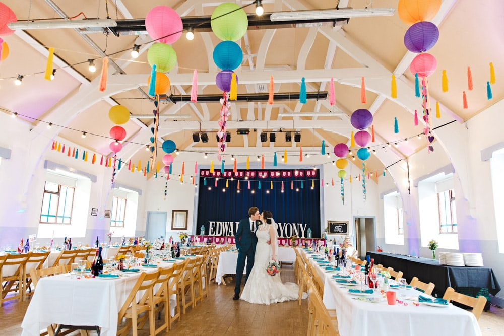 Festival Themed Wedding with Bunting