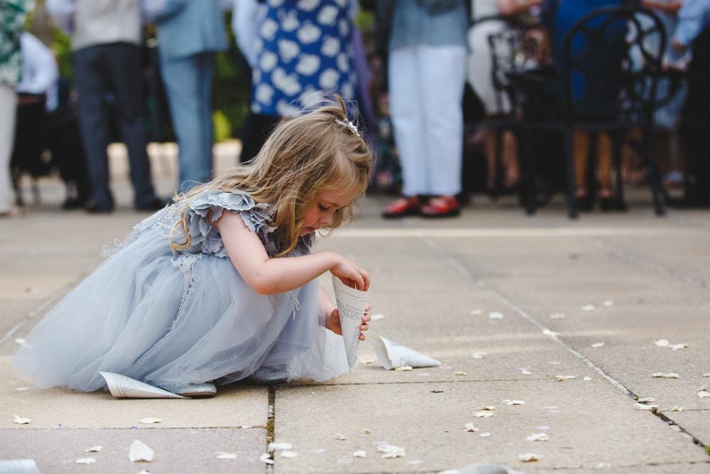 Flower Girl at Crewe Hall Wedding