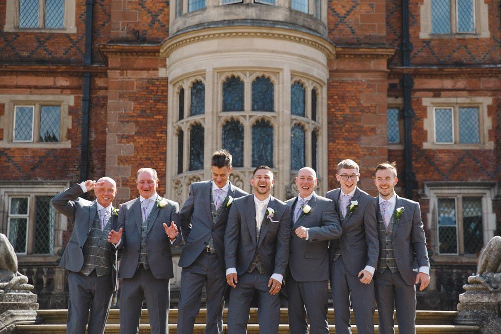 Groomsmen at Crewe Hall