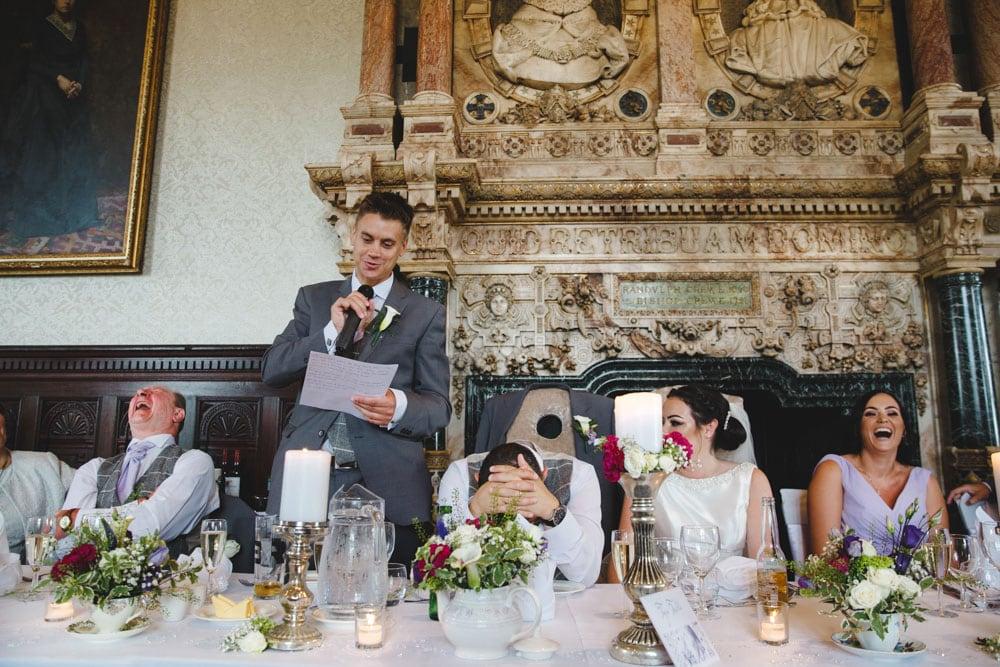 Crewe Hall wedding speech by Best Man