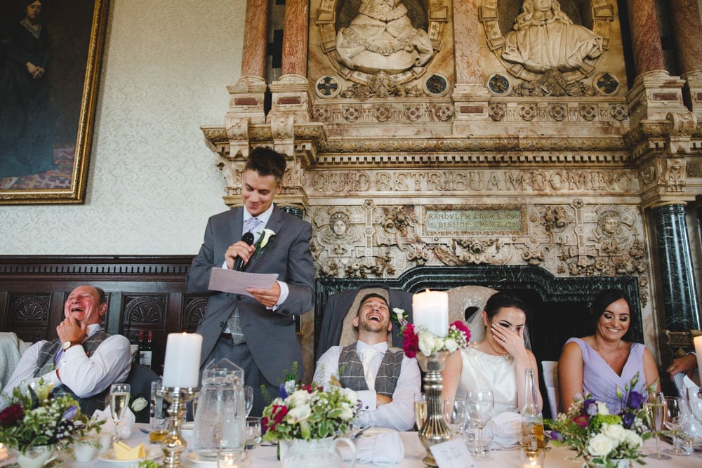 Best Man speech at Crewe Hall Wedding