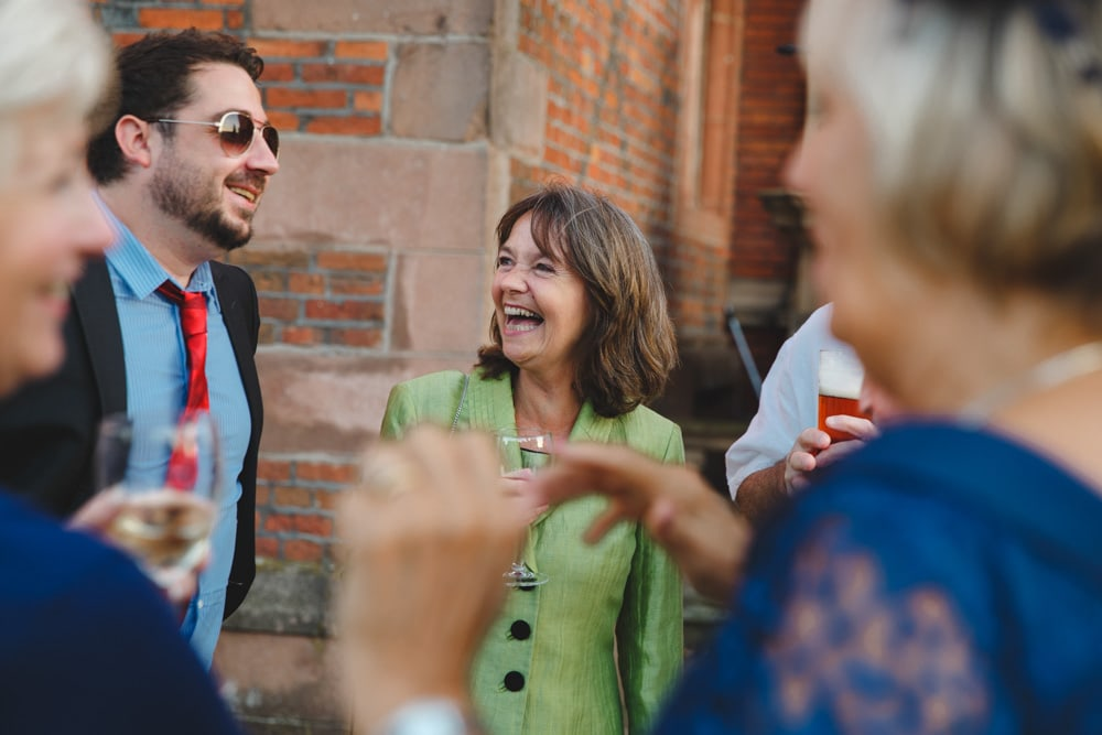 Laughter at Crewe Hall Wedding