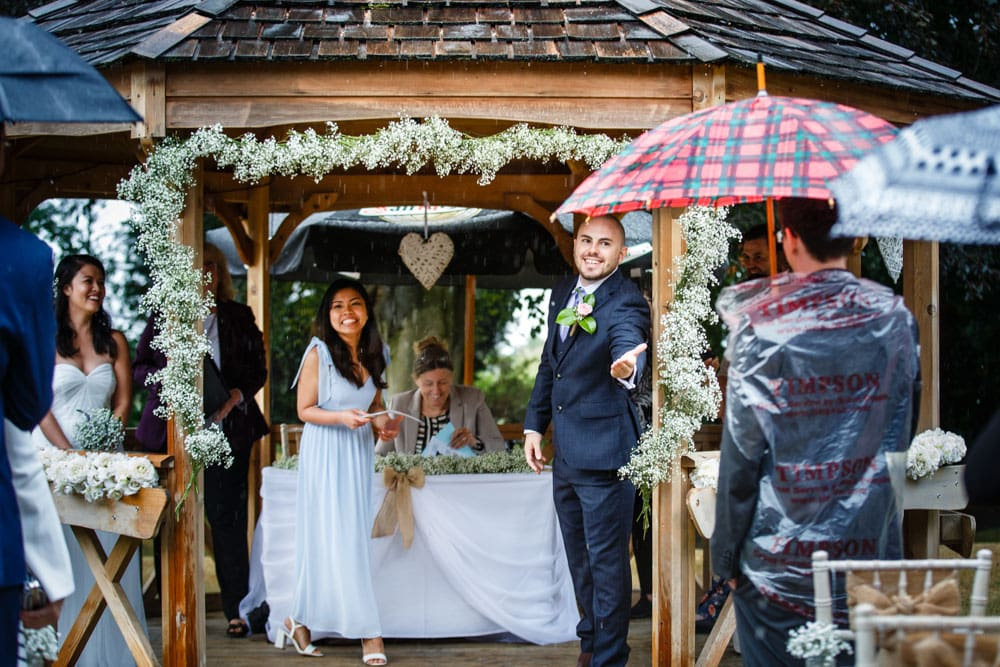 Outdoor Ceremony that Rained