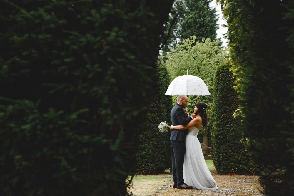 Rainy Wedding at Mere Court