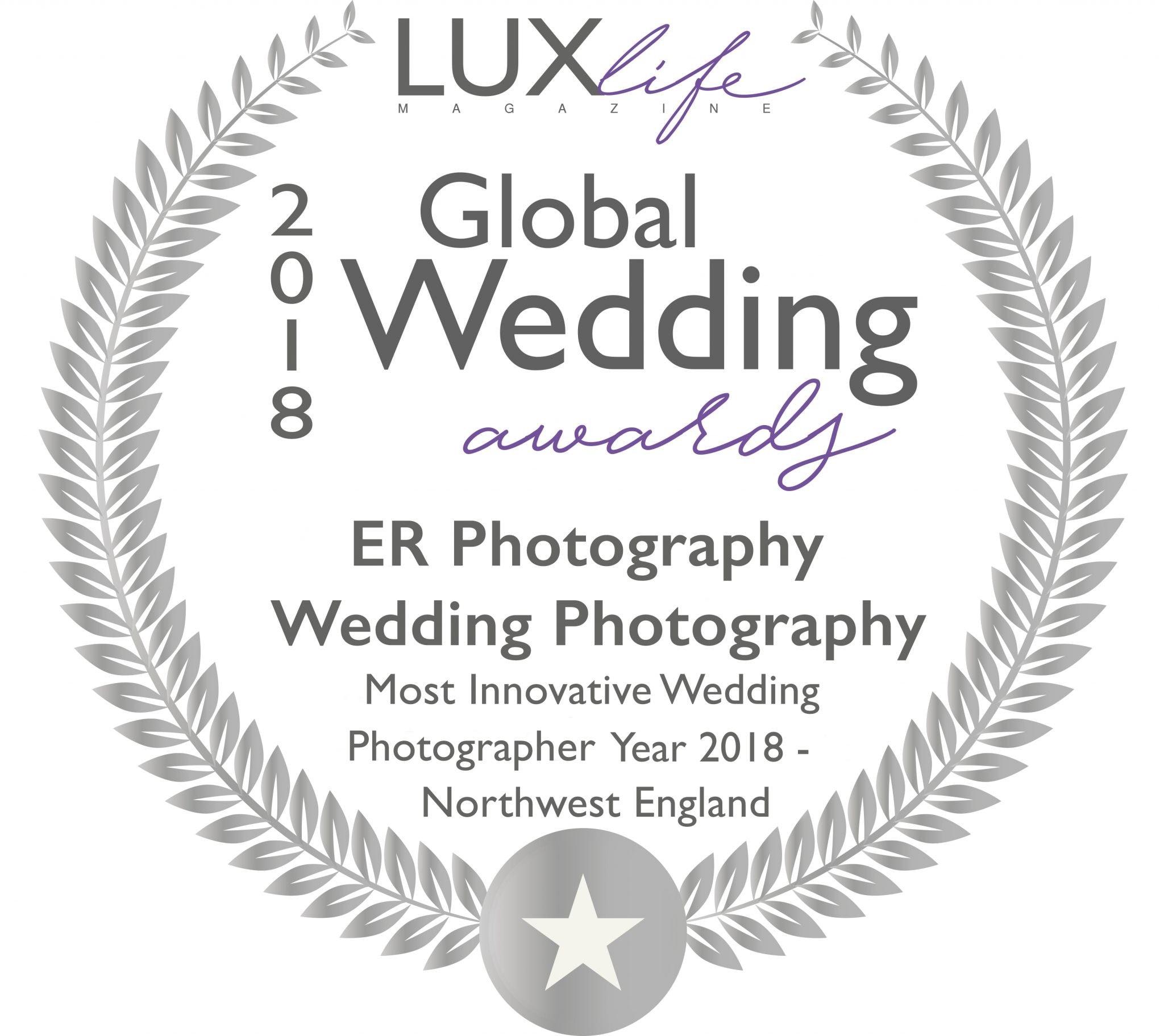 Winner at The Global Wedding Awards 2018
