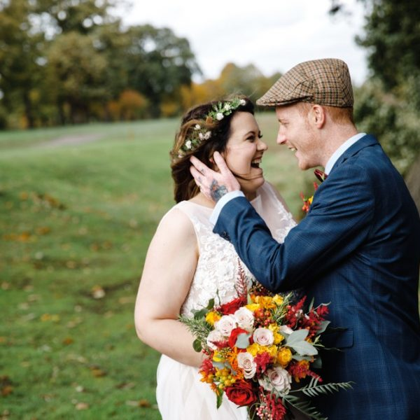 Bride and Groom at Mere Golf Resort