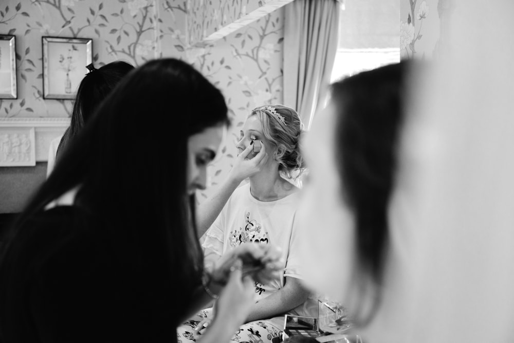 Bridal Prep at Eaves Hall Cheshire