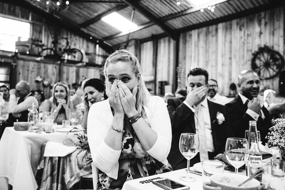Speeches during a Dove Barn Wedding in Knutsford Cheshire