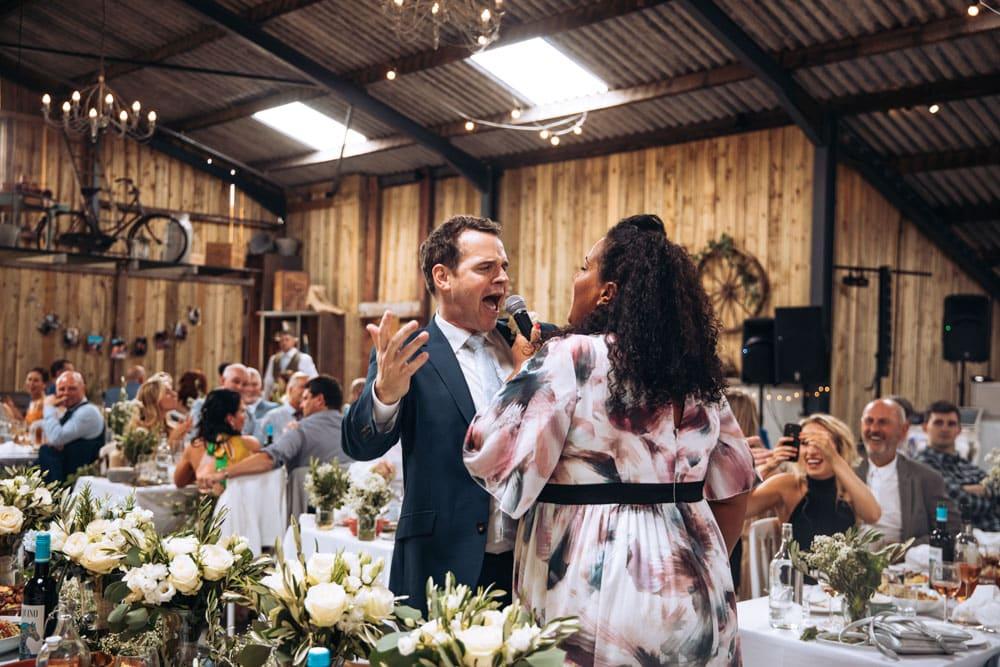 Guests enjoying Dove Barn Wedding Venue in Knutsford
