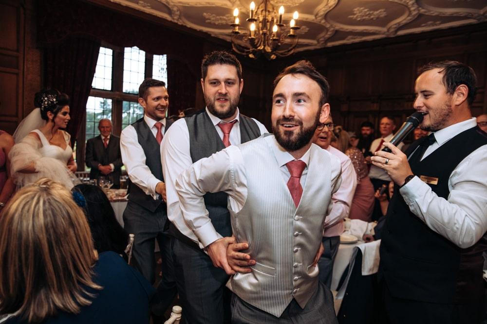 singing waiters during dinner at inglewood manor
