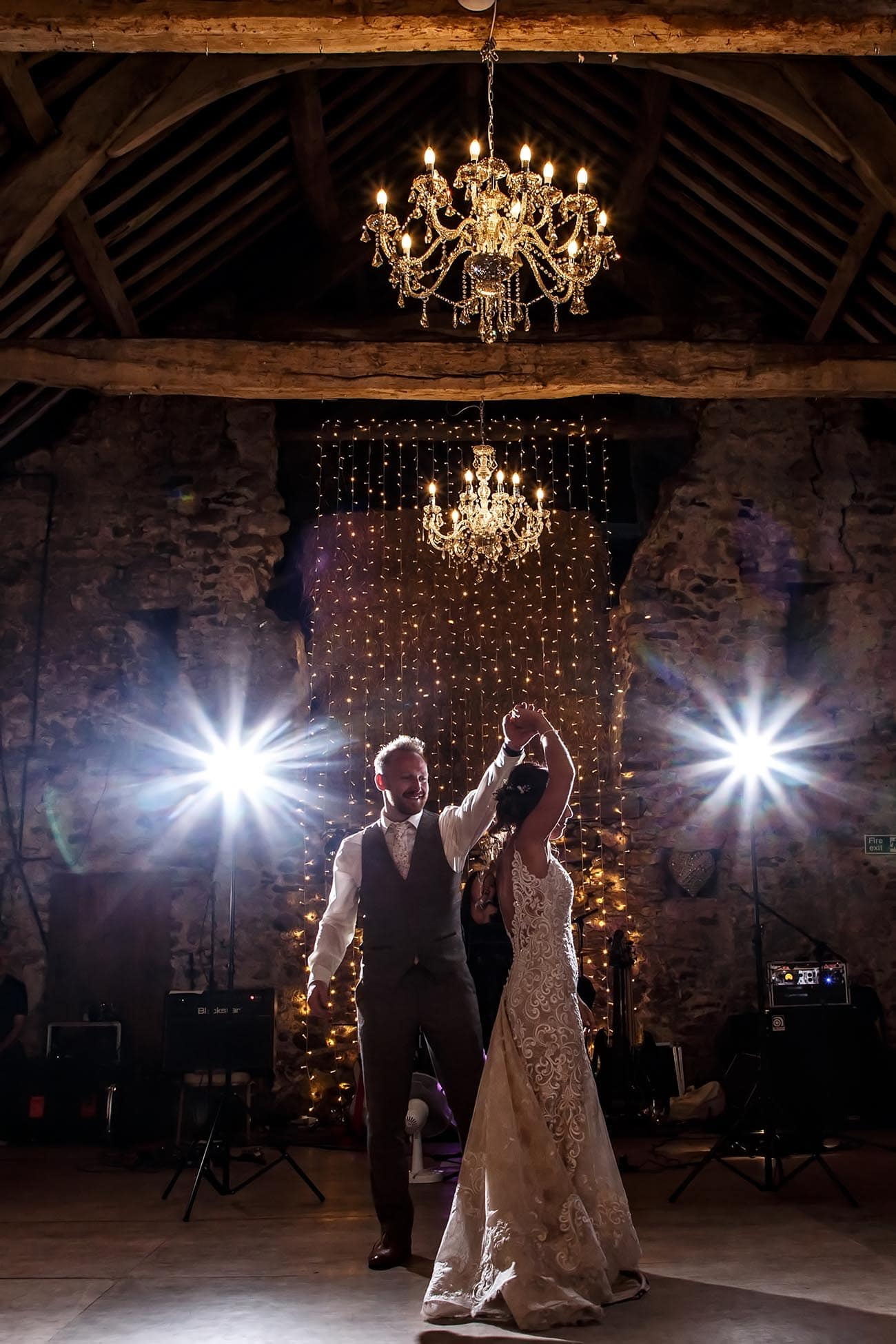 1st dance at Park House Barn