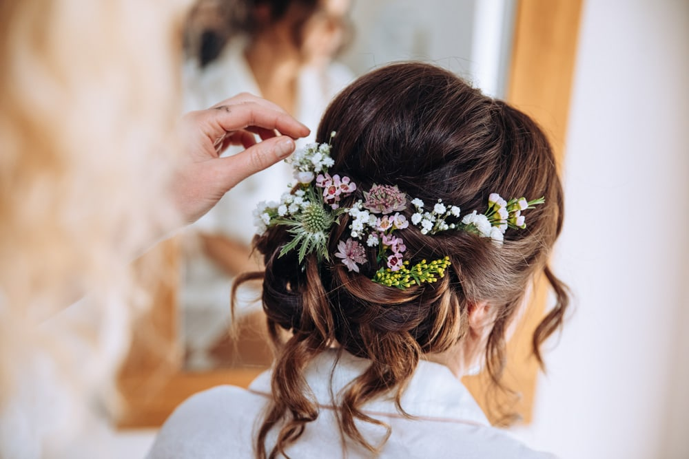 In Hair Bridal Flowers