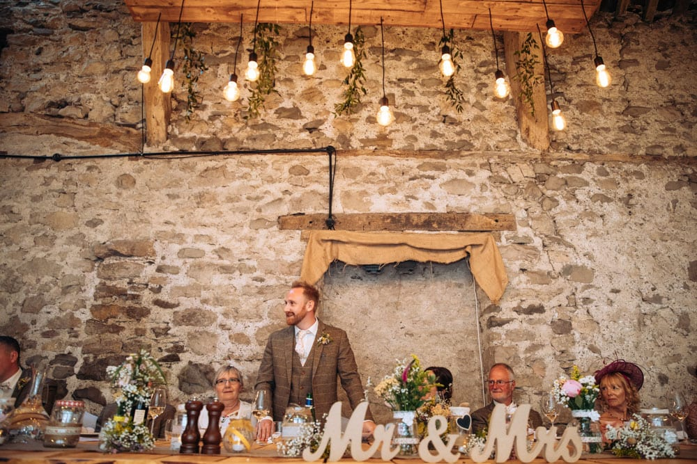 wedding breakfast at park house farm