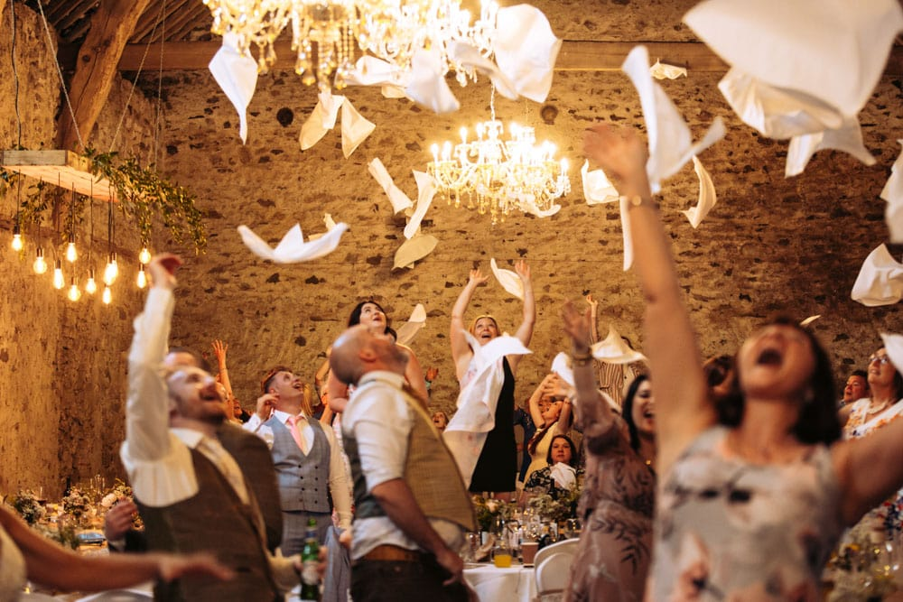 Dancing during the speeches at Park House Barn
