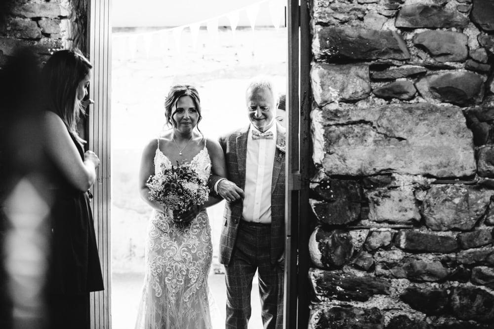 Walking Down The Aisle at Park House Barn Weddings