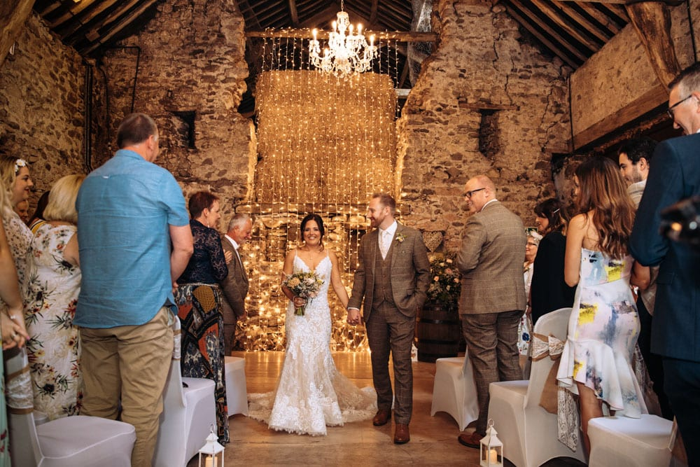 Confetti at Park House Barn in Cumbria