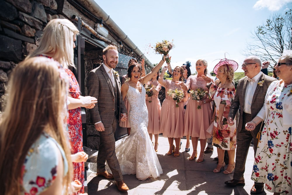 Confetti at Park House Barn Lake District Wedding Photographer