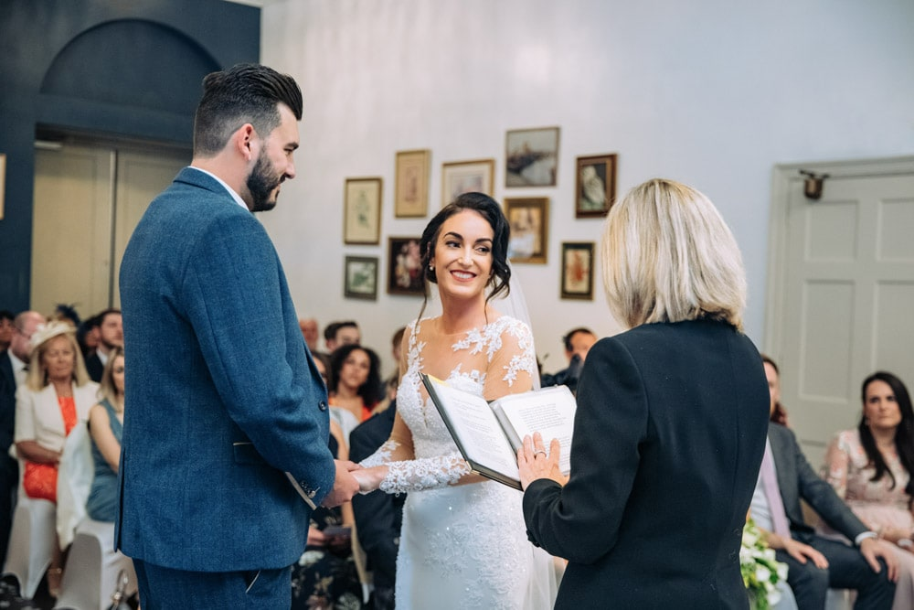 Bride getting married at Knutsford Court House