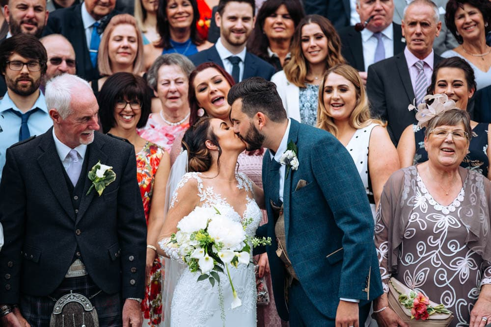 Family Wedding Photo at Knutsford Court House