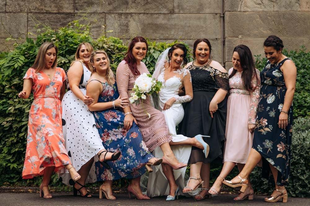 Bridesmaids Photo at Knutsford Court House