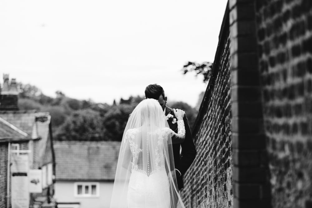 Bride and Groom in Knutsford Town Centre