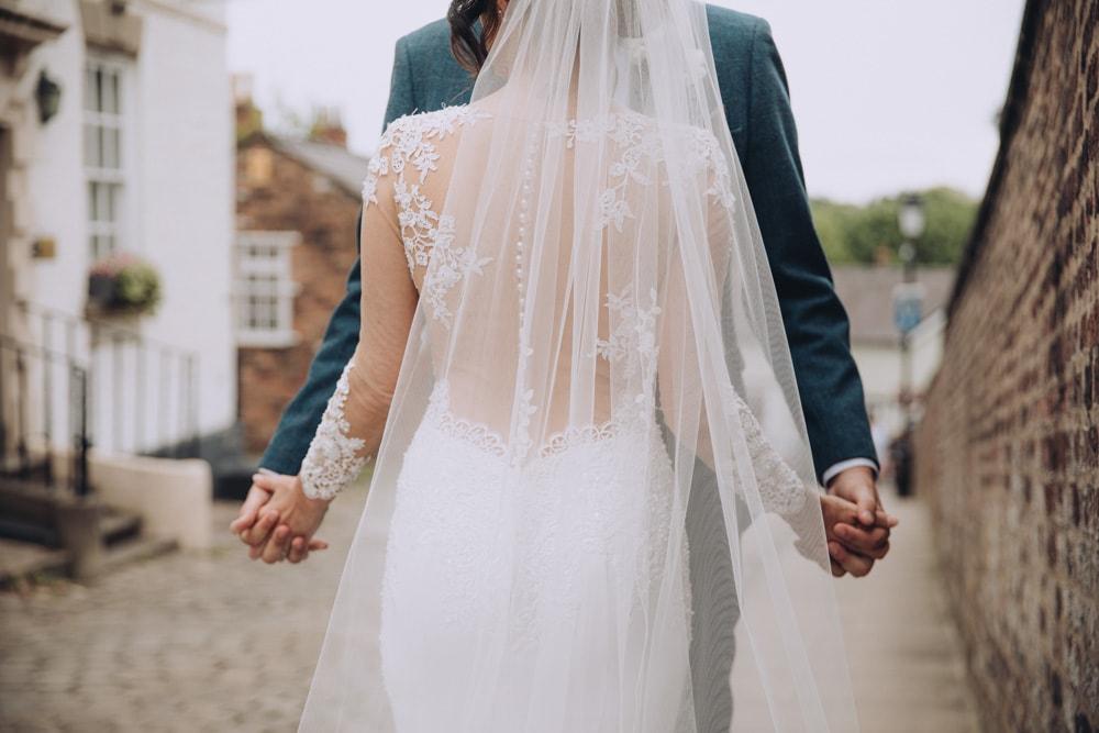 a romantic wedding pose
