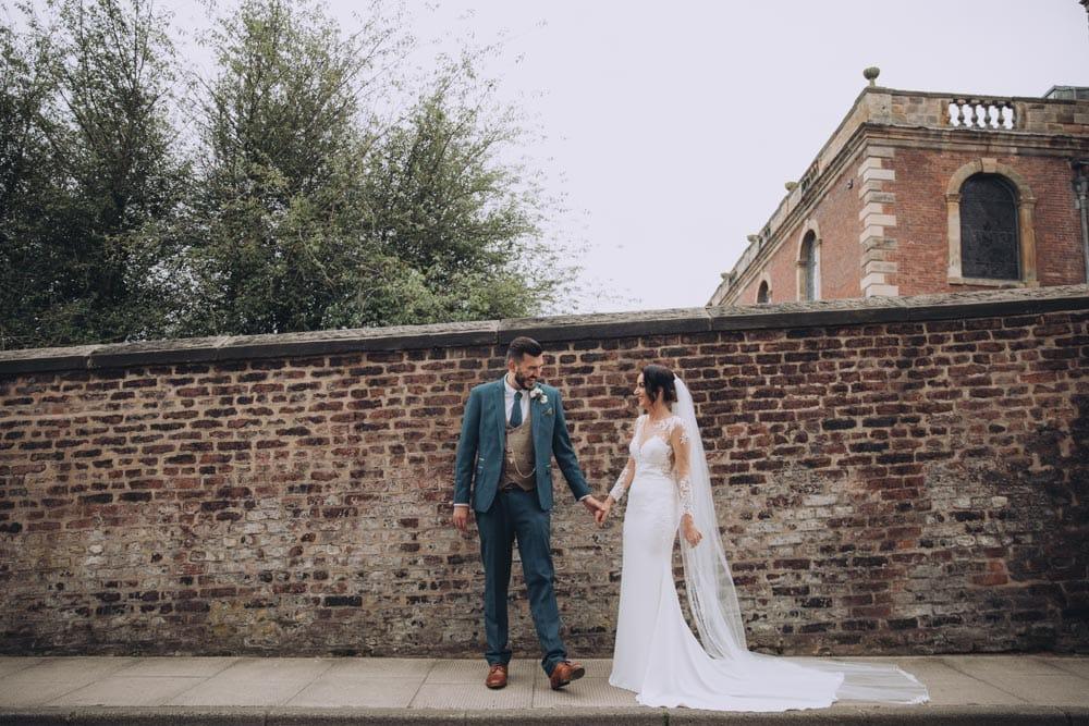 knutsford wedding bride and groom