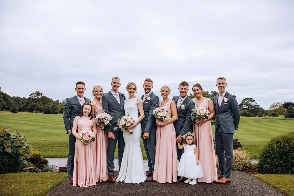 Family group photos at Mottram Hall in Cheshire
