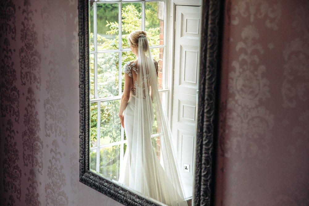Bride and Groom at Mottram Hall in Cheshire