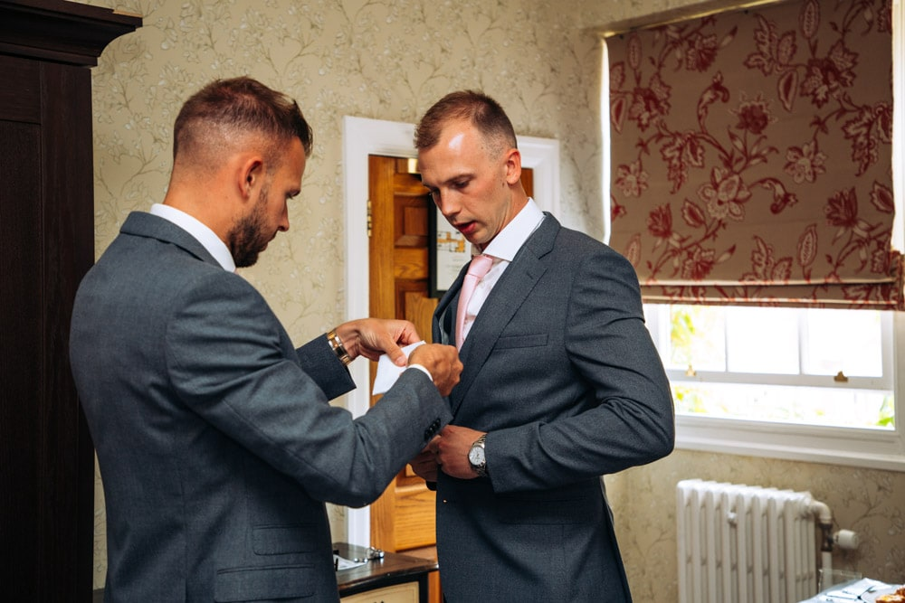 groom preparations at mottram hall