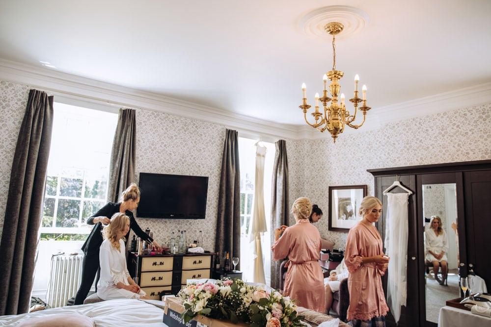bridal photos in a cheshire wedding venue