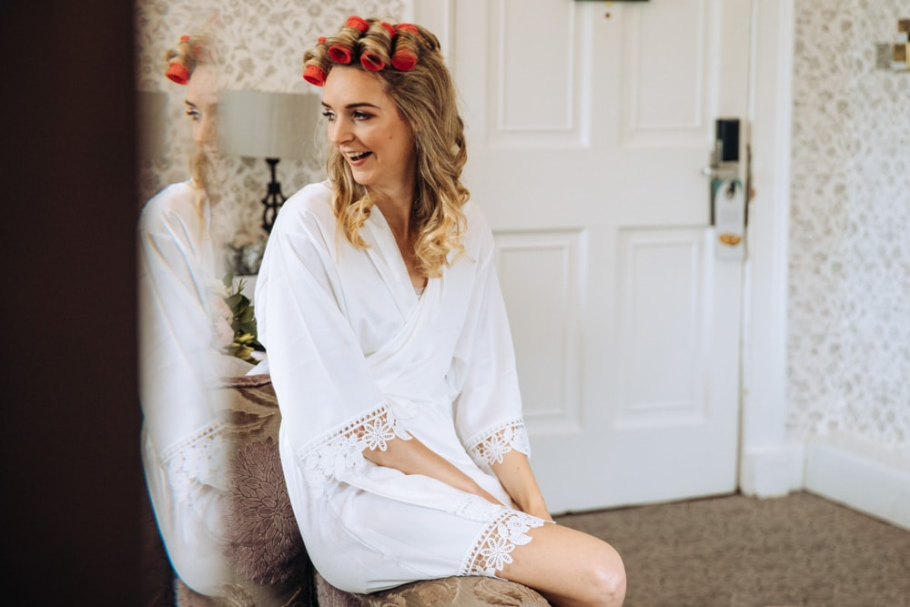 bridal photos in a cheshire wedding venue
