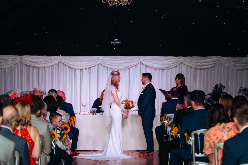 ceremony marquee at heaton house farm