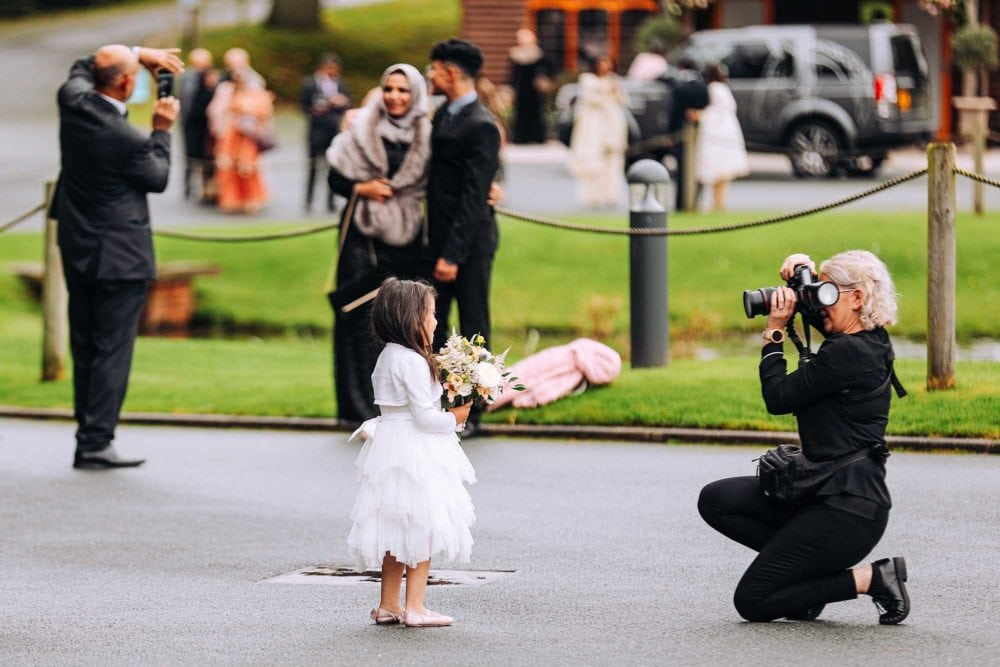 Photographer at working during a wedding
