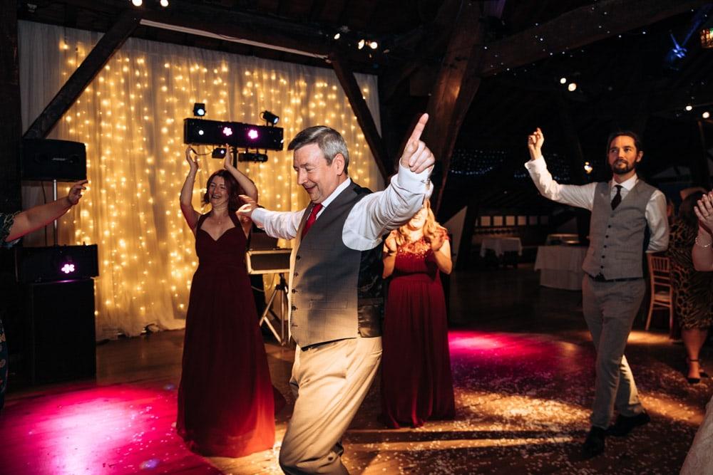 dad dancing at rivington barn