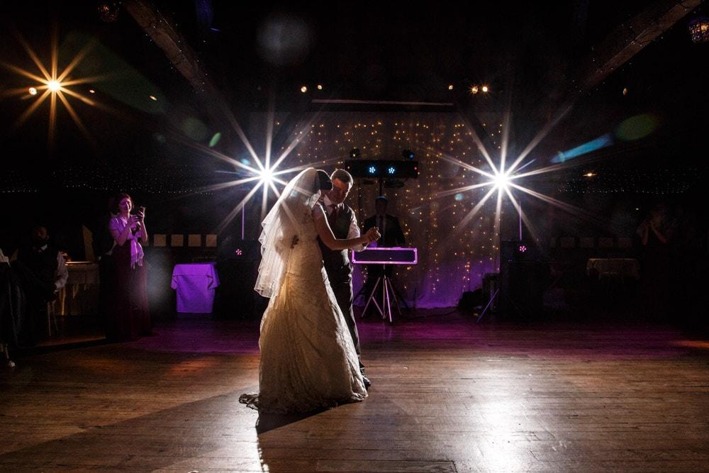 dad and daughter dance at rivington barn