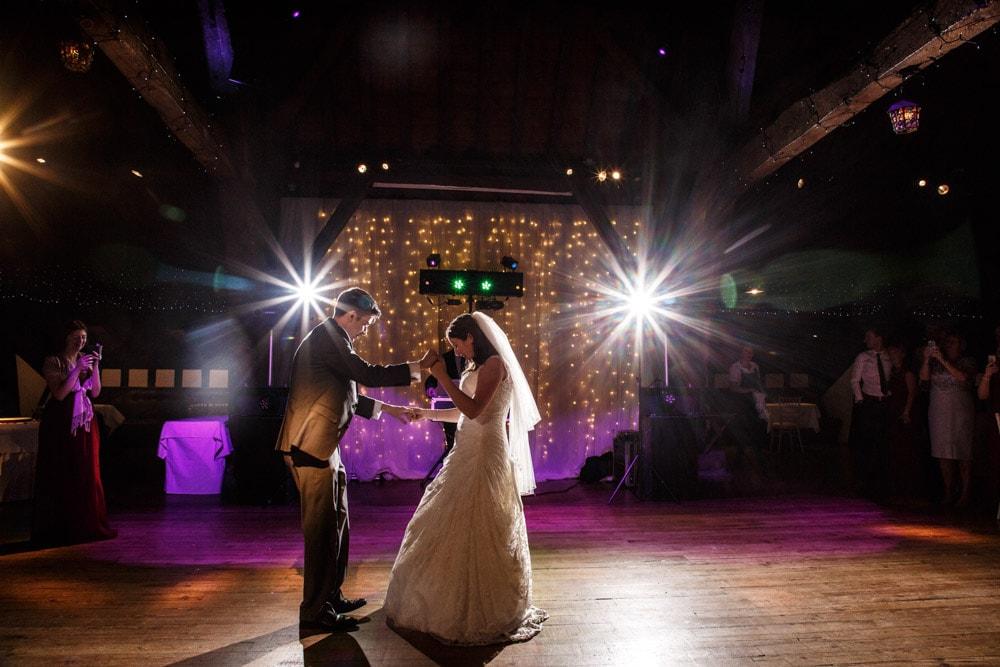 1st dance at rivington barn