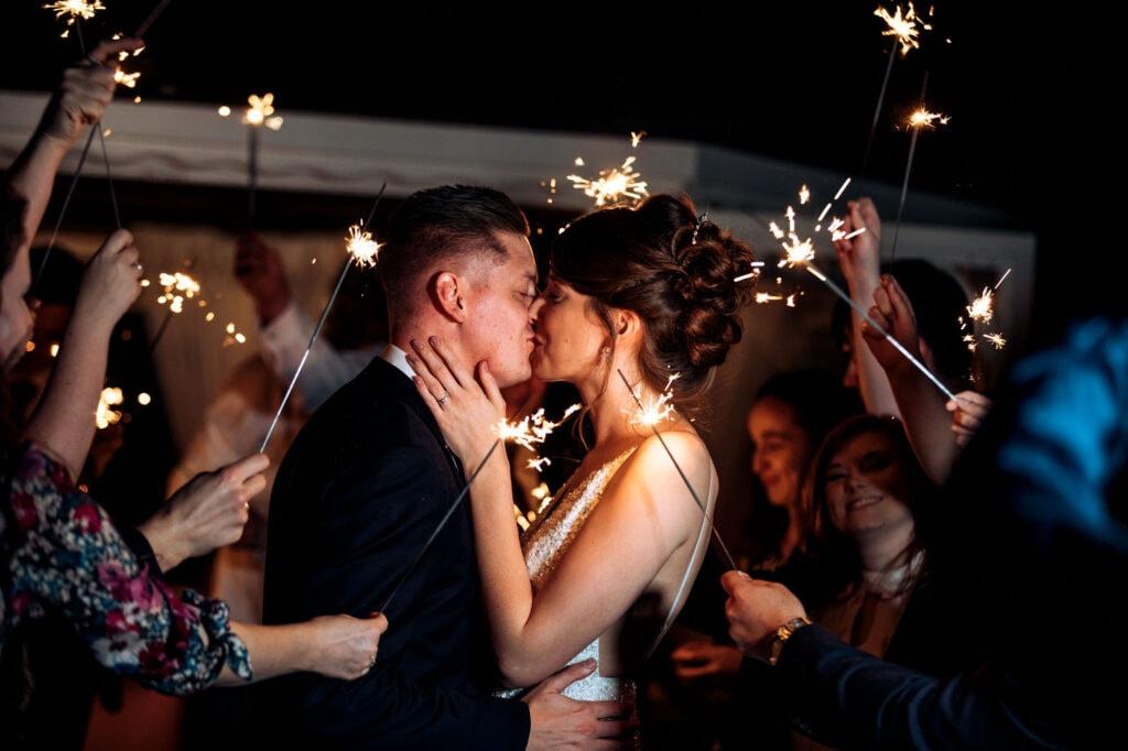 Thornton Hall Hotel Wedding Photography Sparklers