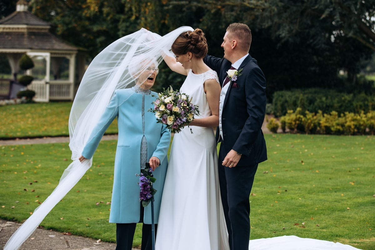 veil blowing in the wind at thornton hall hotel