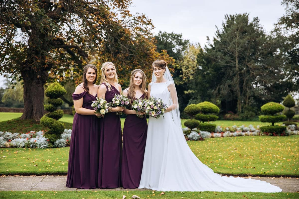 bridesmaids at thornton hall hotel