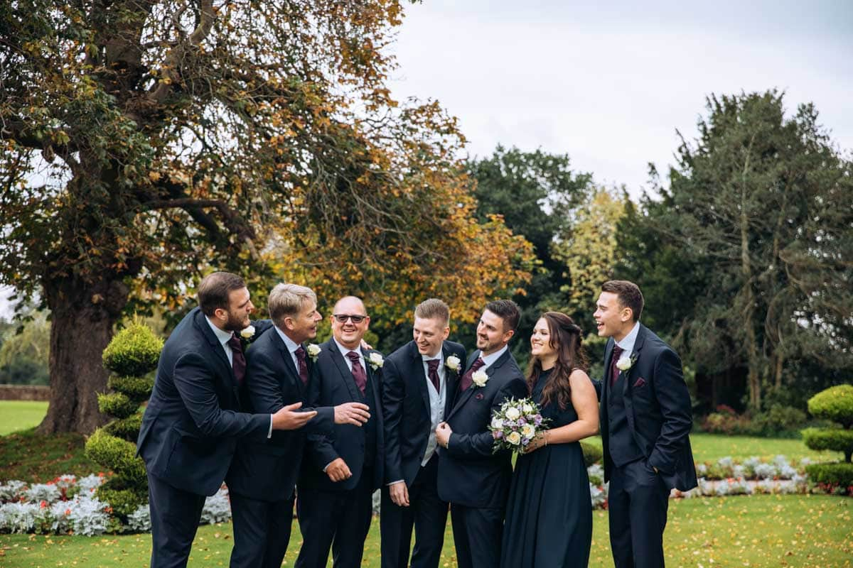 grooms party at thornton hall hotel
