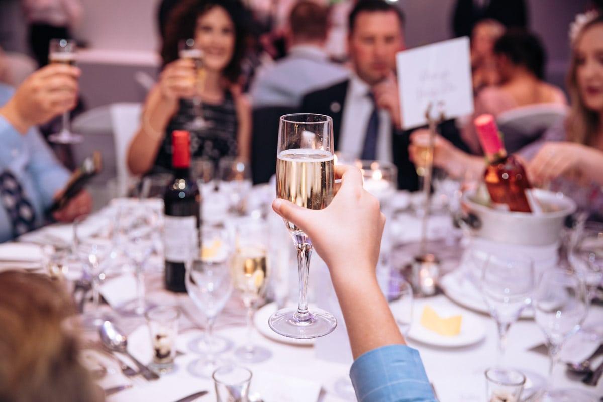 raising a toast at thornton hall hotel