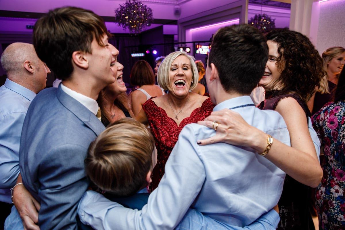 friends enjoying the wedding